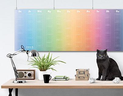 Kalender 2015: Farbenfrohsinn