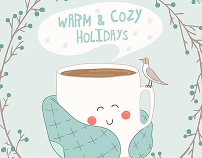 Warm winter card