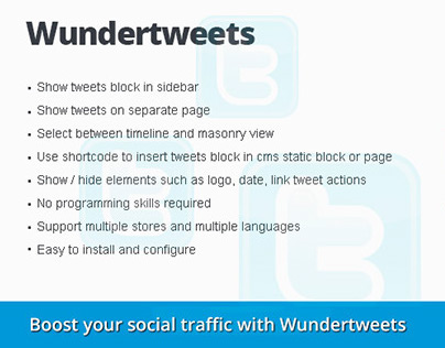 Wundertweets Magento Extension