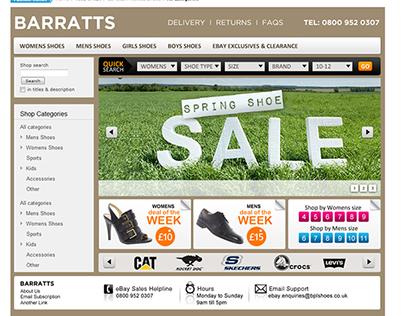 Barratts ebay shop design