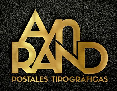 Ayn Rand - Postales Tipográficas