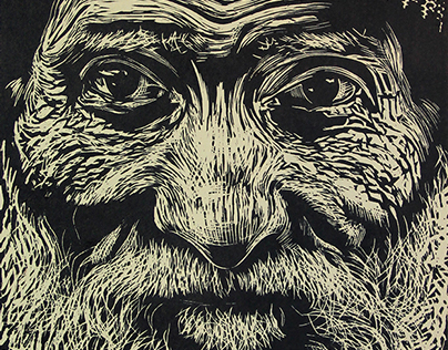 linocut, student work, engraving course