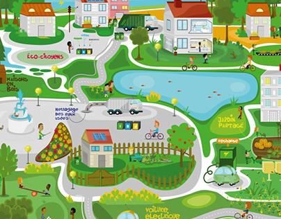 la ville verte et durable.