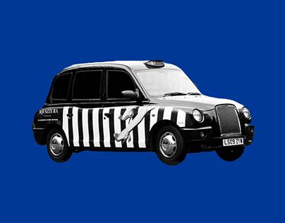 Aquazzura - London taxi campaign