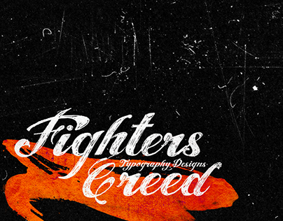 Fighters Creed (Typography Designs)