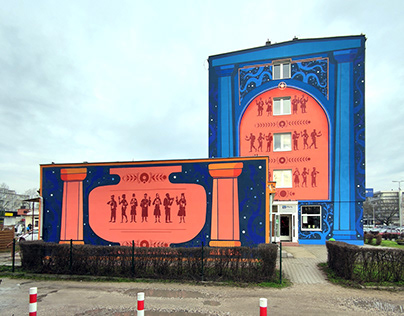 Mural for the university in Toruń