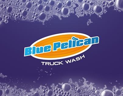 Blue Pelican Truck Wash Logo Design&Branding
