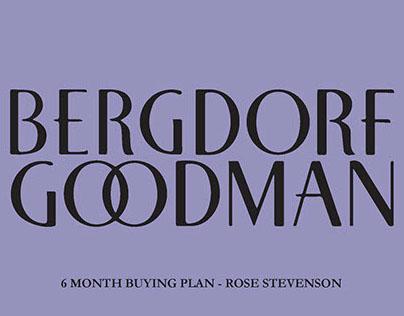 Bergdorf Goodman 6 month buying plan