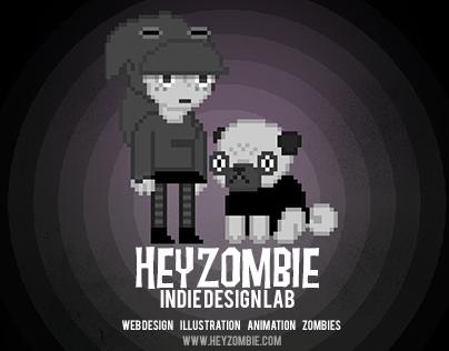 Hey Zombie Indie Design Lab - Web Design