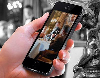 App Design for a luxury restaurant