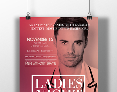 Canadian bachelor Promotion O'Brians Event Centre