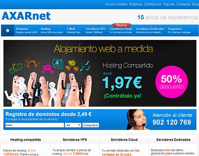 Diseño web y panel de facturacion Axarnet SL.