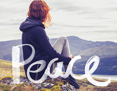 Peace Brush Lettering Series