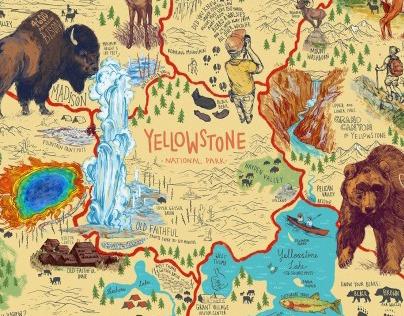 Map of Yellowstone