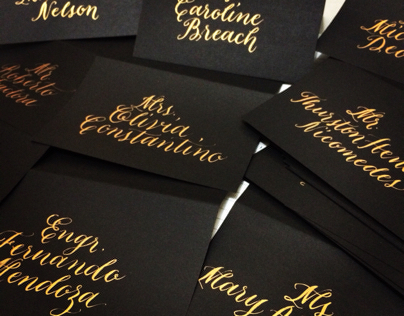 Gold on Black - Placecards