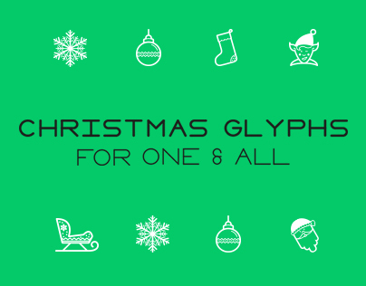 Both Associates Christmas Glyphs Free Download
