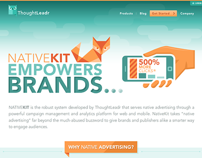 ThoughtLeadr web design