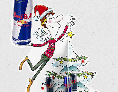 Lifesized Christmas Tree - Red Bull