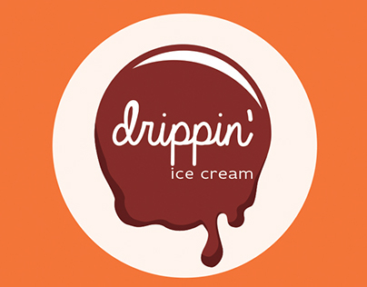 Drippin' ice cream, branding and advert