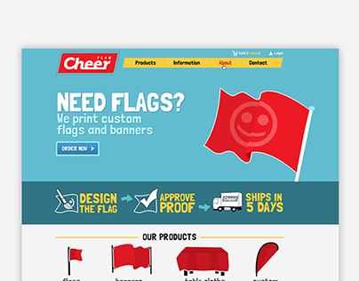 Cheer flag - webdesign