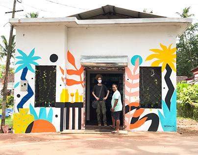 Tropical Mural in Goa, India