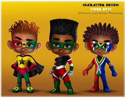 Super Boys Character Designs