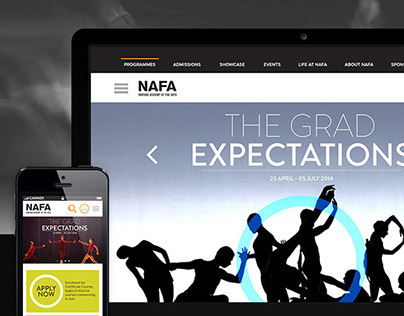 Nanyang Academy of Fine Arts Website Revamp