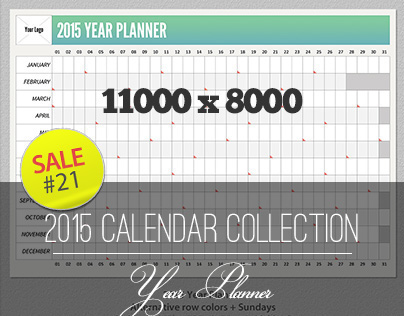 Sale#21: 2015 Calendar Collection - Year Planner