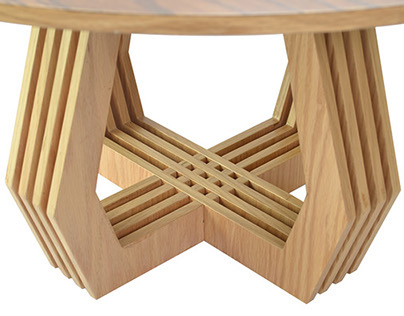 Trama mesa de centro coffee table on behance for Mesas industriales