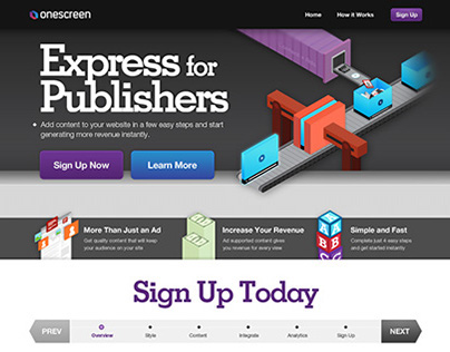 Express for Publishers Isometric Illustrations