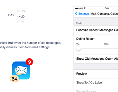 Proposal for the mail app icon counter
