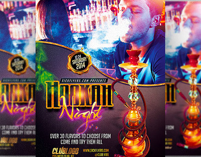 Hookah Lounge Flyer Template On Behance