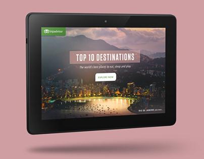 AMAZON + TRIPADVISOR   Interactive Kindle Experience