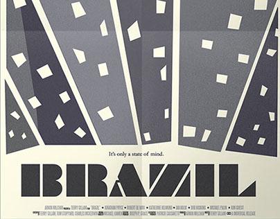 """""""Brazil"""" Movie Poster Mockup"""