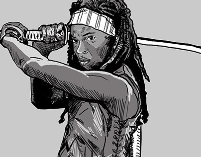 Michonne drawing