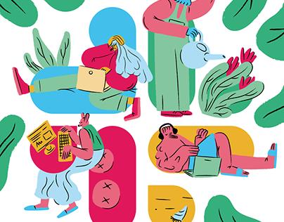 Illustration for Slack company culture guide