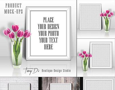 Tulips & White Frames Mock-ups