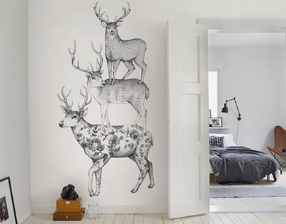WALLPAPERS BY LINN WARME FOR REBEL WALLS