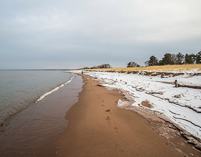 Icy Scenery on Wisconsin Point, Lake Superior