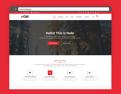 Nobi One Page Template