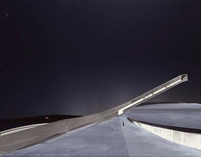 Ski jump with sport complex