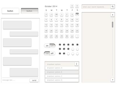 black/white UI element