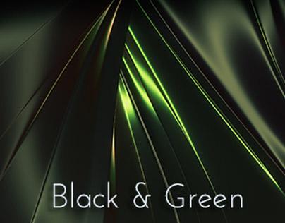 Green and Black Glossy Metallic