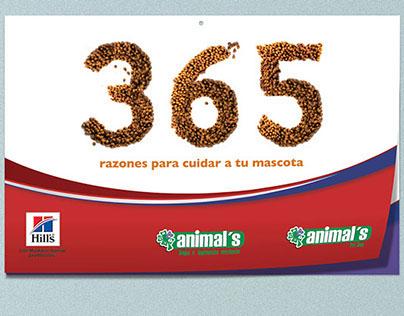 Propuesta Calendario Animal's 2015