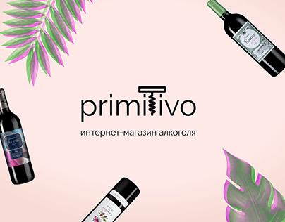 Landing page. Primitivo. Alcohol market