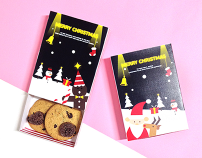 Christmas Gift | Post card & Cookie package