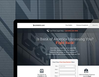 StopBankCalls - landing page