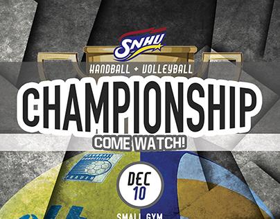 Handball + Volleyball Championship Poster