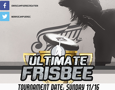 Ultimate Frisbee Tournament Flyer
