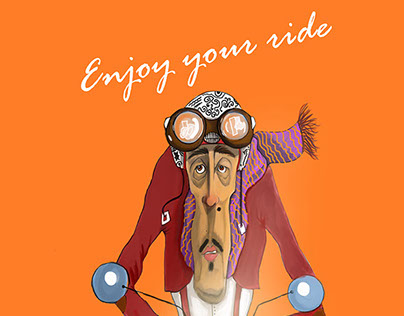 """""""Enjoy your ride""""  poster"""